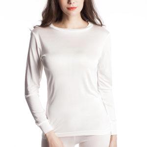 Naisten silkkikerrasto valkoinen